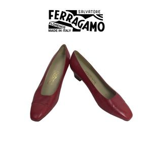Salvatore Ferragamo Red Shoes. Sz 10B